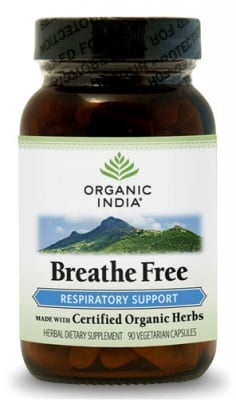 ДИШАЙ СВОБОДНО - регулира дишането - капсули 325 мг. x 90, ORGANIC INDIA