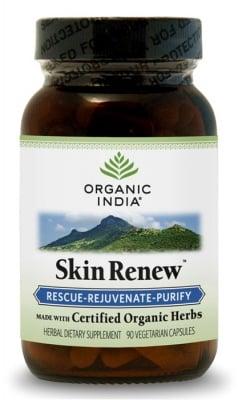 СКИН РЕНЮ - подмладява и изчиства кожата - капсули 400 мг. x 90, ORGANIC INDIA