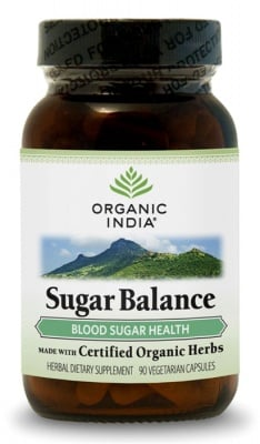 ШУГЪР БАЛАНС - регулира нивата на кръвната захар - капсули 500 мг. x 90, ORGANIC INDIA