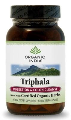 ТРИФАЛА - подобрява храносмилането и пречиства дебелото черво - капсули 480 мг. x 90, ORGANIC INDIA