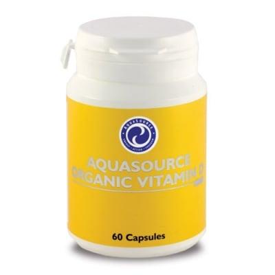 ОРГАНИЧЕН ВИТАМИН D - извлечен от органични гъби на прах, които осигуряват силна и много чиста форма на витамина - капсули х 60, АКВАСОРС