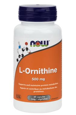 ОРНИТИН - УЧАСТВА В ПРОИЗВОДСТВОТО НА УРЕЯ - 500 мг. * 60капс., НАУ ФУДС