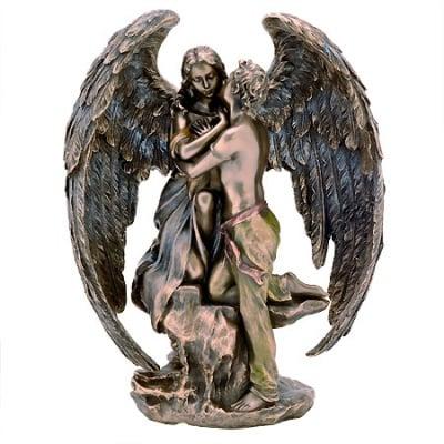 СТАТУЕТКА АНГЕЛ ПАЗИТЕЛ - символ на чистотата и невинността - 19 см., VERONESE
