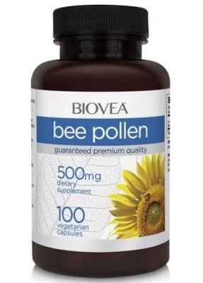 ПЧЕЛЕН ПРАШЕЦ - натурален имуностимулатор носещ енергия и жизненост - капсули 500 мг. х 100, BIOVEA