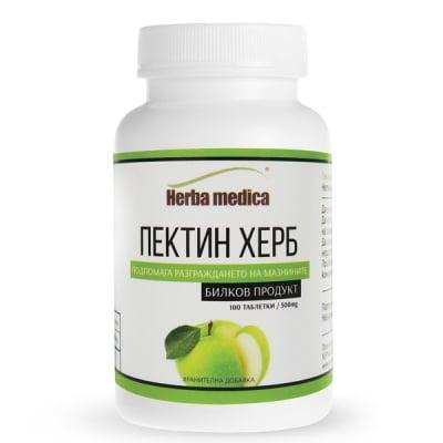 ПЕКТИН ХЕРБ 500 мг. при повишен холестерол * 100таблетки