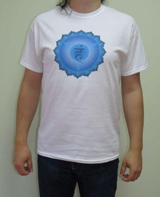 ПЕТА ЧАКРА (ВИШУДХА) – тениска – бяла, унисекс