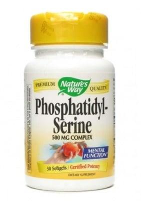 ФОСФАТИДИЛ - СЕРИН - подпомага нормалното функциониране на мозъка - капсули х 30, NATURE'S WAY