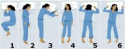 Позата, която заемате по време на сън издава вашият характер