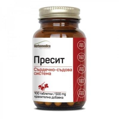 ПРЕСИТ 500 мг. при високо кръвно * 100 таблетки  ХЕРБАМЕДИКА
