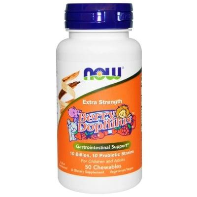 ПРОБИОТИК ЗА ДЕЦА за възстановяване на стомашно-чревната перисталтика * 50дъвчащи  таблетки, НАУ ФУДС