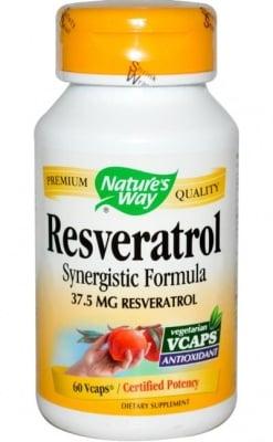 РЕСВЕРАТРОЛ - предпазва кръвоносните съдове, черния дроб и сърцето - капсули 325 мг. х 60, NATURE'S WAY