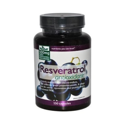 РЕСВЕРАТРОЛ 100 мг.- източник на мощни антиоксиданти и натурални полифеноли * 150 капс.