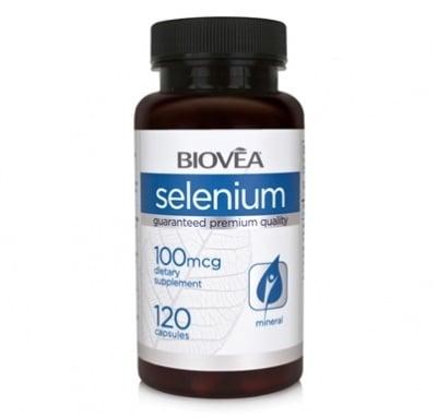 СЕЛЕН - подсилва имунната защита, силен антиоксидант - капсули 100 мкг. х 120, BIOVEA