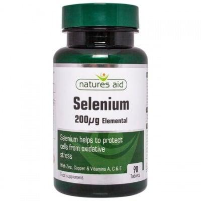 СЕЛЕН 200 мкг. с витамини А, C & E, цинк, мед * 90 таблетки