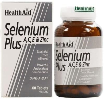 СЕЛЕН ПЛЮС ВИТАМИН А + С + Е + ЦИНК - мощен антиоксидант - 200 мкг. 60 таблетки