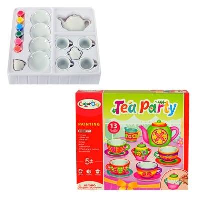 Комплект за оцветяване Чаено парти - керамика