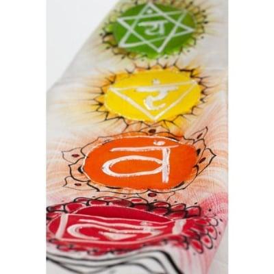 Шал Чакри - за медитация, ръчно рисуван, памук