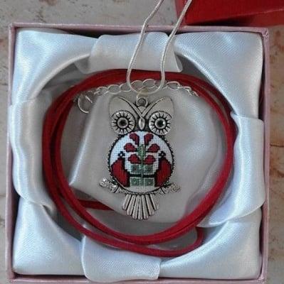 Медальон БУХАЛ с бродиран български мотив от Разград