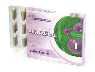 ВИТАЙОД - с органически минерален комплекс тиротонин - капсули х 30, SIBERIAN HEALTH