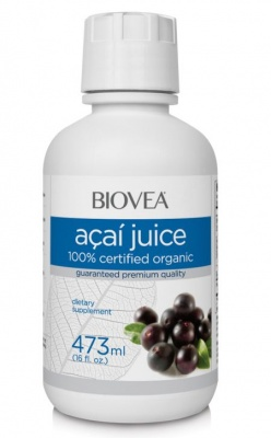 АКАЙ 100% СОК - силен антиоксидант, понижаващ холестерола - 473 мл., BIOVEA