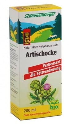 БИО СОК ОТ АРТИШОК - спомага за разграждането на мазнините - 200 мл., SCOENENBERGER