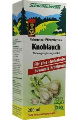 БИО СОК ОТ ЧЕСЪН - понижава нивата на холестерола - 200 мл., SCOENENBERGER