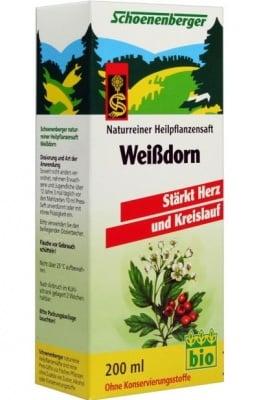 БИО СОК ОТ ГЛОГ - подобрява кръвообращението и работата на сърцето - 200 мл., SCHOENENBERGER