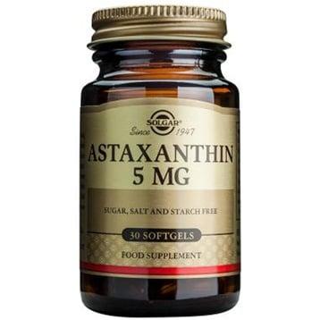 АСТАКСАНТИН - подкрепя очното здраве, нервната и сърдечно-съдовата система - капсули 5 мг. х 30, SOLGAR