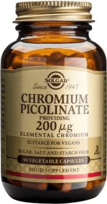 ХРОМ ПИКОЛИНАТ - контролира нивата на кръвната захар - 200 мг., х 90, SOLGAR