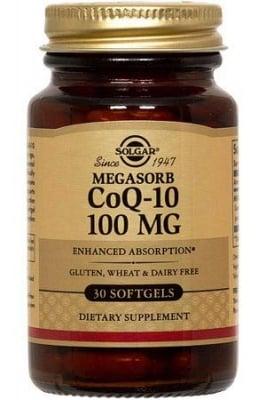 КОЕНЗИМ Q10 - стимулира енергията в организма - капсули 100 мг. х 30, SOLGAR