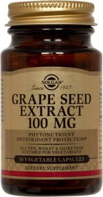 ЕКСТРАКТ ОТ ГРОЗДОВИ СЕМКИ - при разширени вени и съдови смущения - 100 мг. х 30, SOLGAR