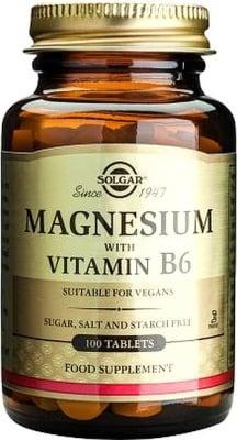 МАГНЕЗИЙ + ВИТАМИН В6 - таблетки х 100, SOLGAR