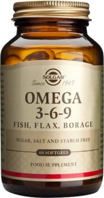 ОМЕГА 3-6-9 - намалява риска от сърдечно-съдови заболявания - меки капсули х 90, SOLGAR
