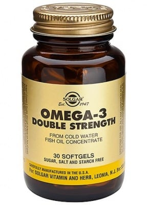 ОМЕГА 3 ДВОЙНА СИЛА - подпомага зрението и мозъчната дейност - капсули х 30, SOLGAR