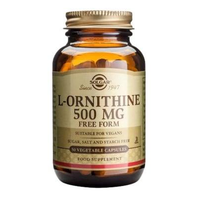 L - ОРНИТИН 500 мг. ускорява зарастването на рани * 50капсули, СОЛГАР