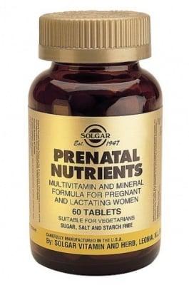ПРЕНАТАЛ - подпомага организма преди забременяване и по време на бременност - таблетки х 60, SOLGAR