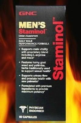 СТАМИНОЛ - подобрява сексуалната функция при мъжете - капсули х 60, GNC