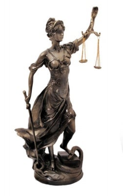 СТАТУЯ БОГИНЯ ТЕМИДА, 54 см. - истина и справедливост, COSMOPOLIS