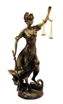 СТАТУЯ БОГИНЯ ТЕМИДА, 52 см.- истина и справедливост, COSMOPOLIS