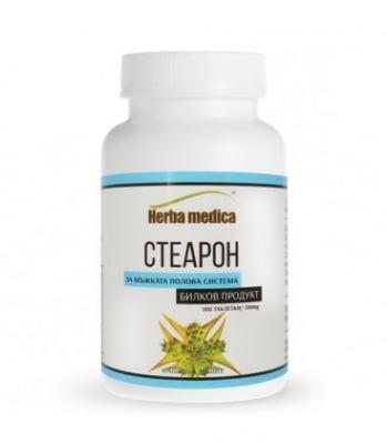 СТЕАРОН - повлиява производството на тестостерон, повишава потентността - таблетки 500 мг. х 100, HERBA MEDICA