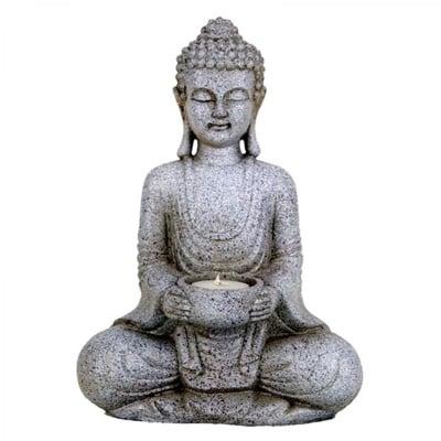 Медитиращ Буда, свещник * 27см