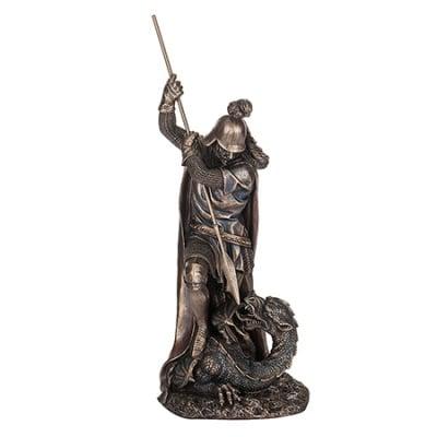 СТАТУЯ ВОЙНИК И ЗМЕЙ - символ на вярата и храбростта - 29.5 см. - VERONESE