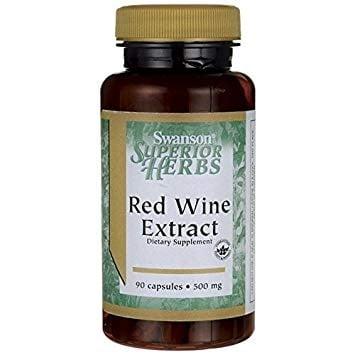ЧЕРВЕНО ВИНО ЕКСТРАКТ 500 мг. здраве за сърдечно-съдовата система * 90капсули, СУОНСЪН