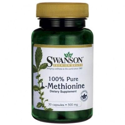 L-МЕТИОНИН 500 мг подпомага преработването на мазнините в черния дроб * 30капсули, СУОНСЪН