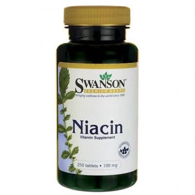 НИАЦИН (ВИТАМИН Б3) 100 мг. - дава прилив на енергия и жизненост * 250таблетки , СУОНСЪН