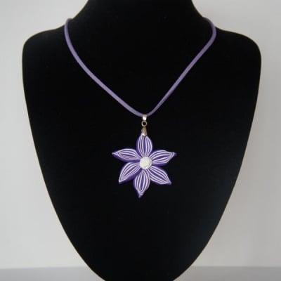 КОЛИЕ НОЛИНА 02 – красота и очарованиe в лилаво от полимерна глина – ТАНЯ ТЕКНЕФЕЗОВА