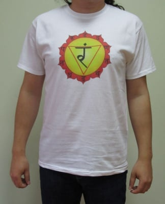 ТРЕТА ЧАКРА (МАНИПУРА) – тениска – бяла, унисекс