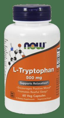 ТРИПТОФАН - БОРИ СЕ СРЕЩУ БЕЗСЪНИЕТО - 500 мг. * 60капс., НАУ ФУДС