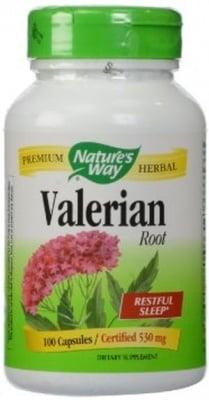 ВАЛЕРИАНА - подпомага нервната система и съня - капсули 530 мг. х 100, NATURE'S WAY