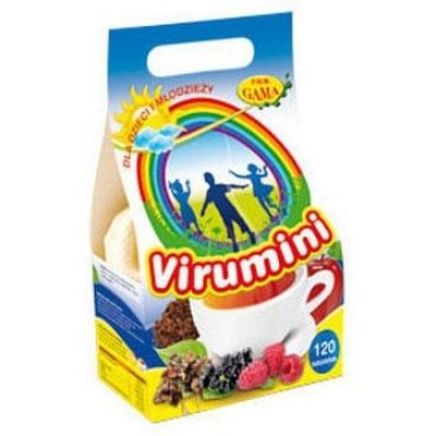 ВИРУМИНИ ФИЛТЪР - укрепва имунитета и подобрява хранителния режим на децата - филтърни пакетчета х 120, P.W.M. GAMA